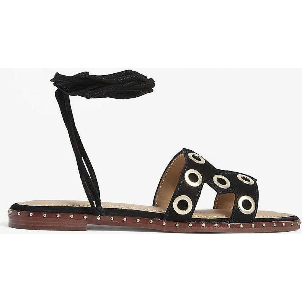マージュ MAJE レディース サンダル・ミュール シューズ・靴【Strappy suede sandals】BLACK