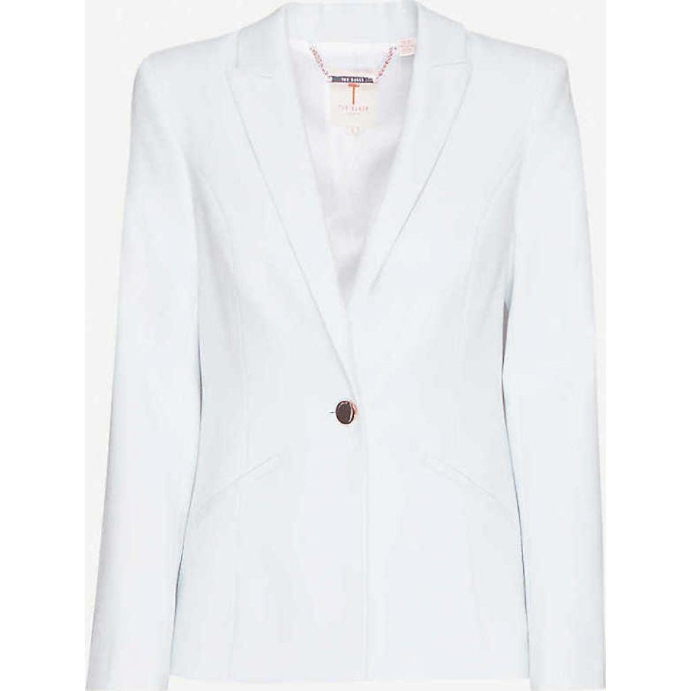 テッドベーカー TED BAKER レディース スーツ・ジャケット アウター【Pelia single-breasted woven blazer】LT-BLUE
