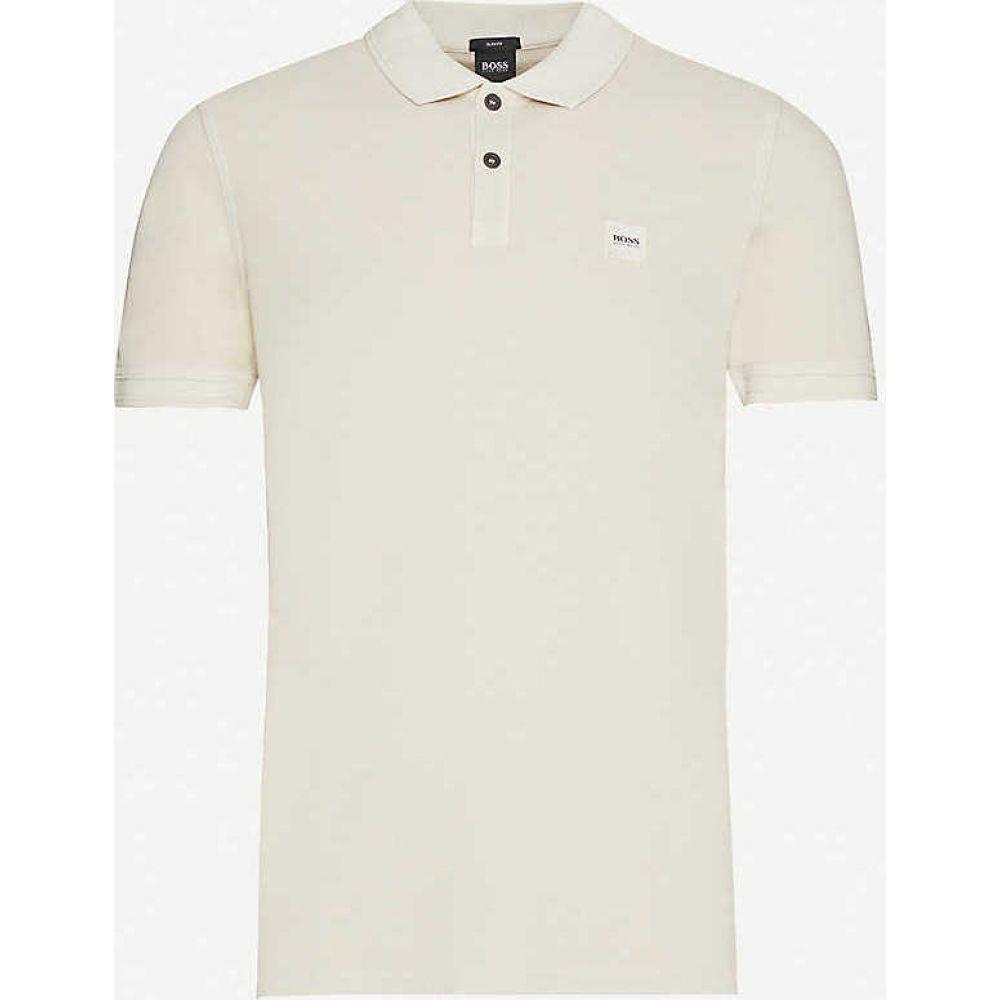 ヒューゴ ボス BOSS メンズ ポロシャツ トップス【Logo-embroidered cotton-pique polo shirt】Light/Pastel Grey