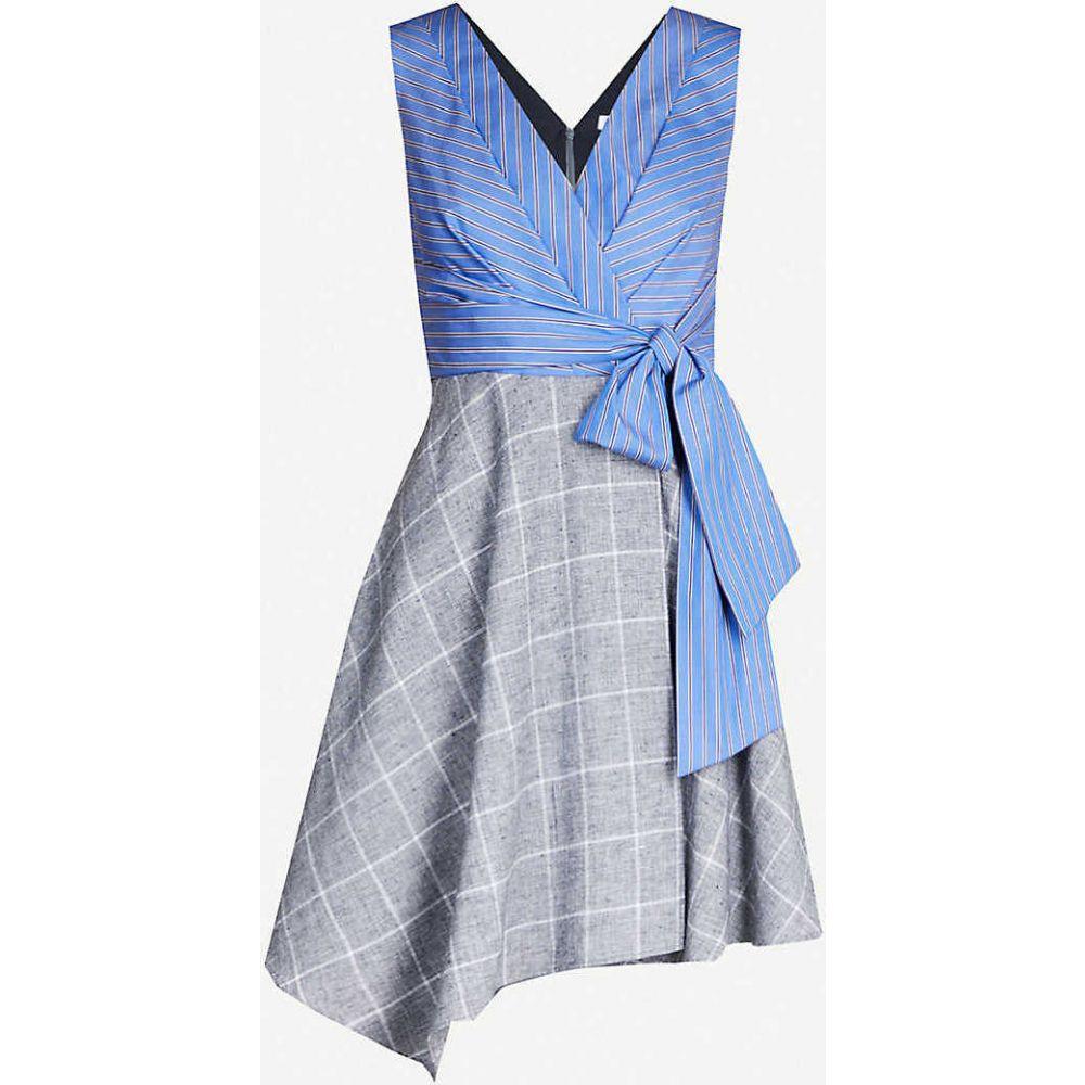 クローディ ピエルロ CLAUDIE PIERLOT レディース ワンピース ワンピース・ドレス【Contrast-panel cotton and linen-blend dress】Print