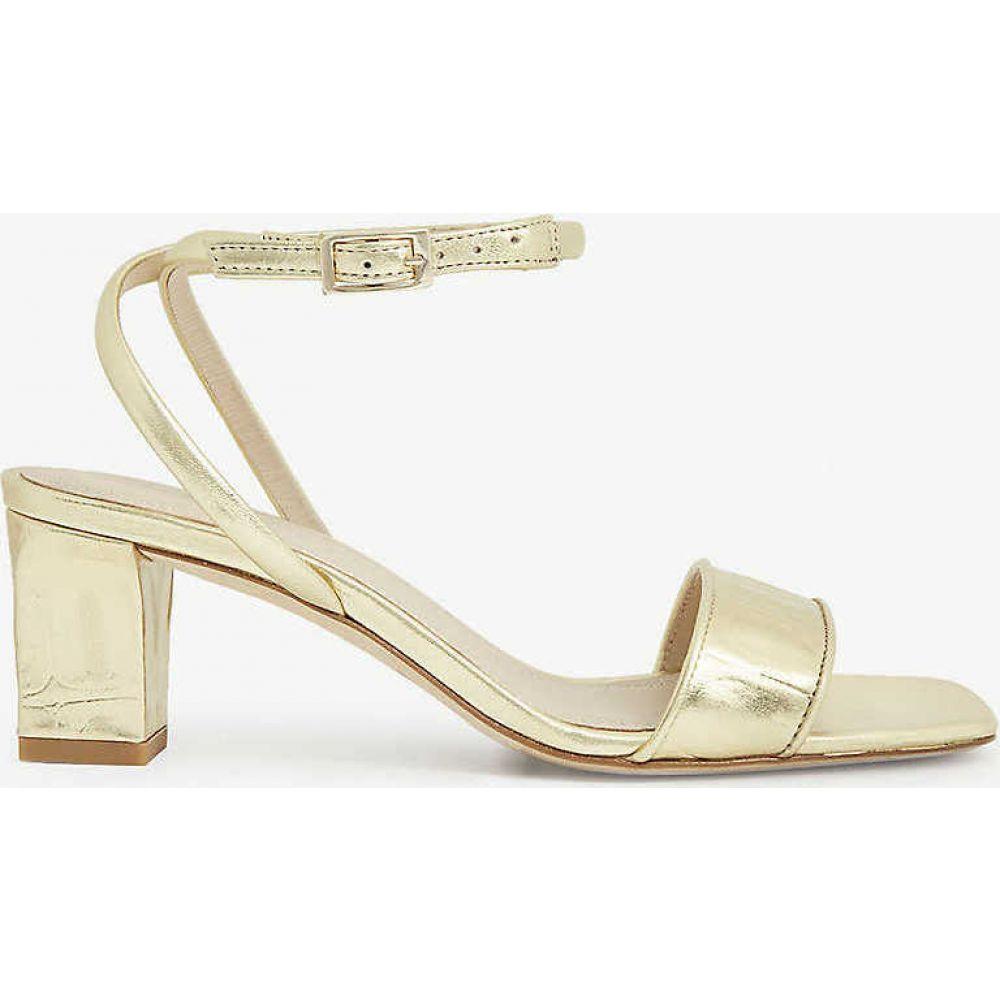 サンドロ SANDRO レディース サンダル・ミュール シューズ・靴【Miana croc-embossed leather sandals】GOLD