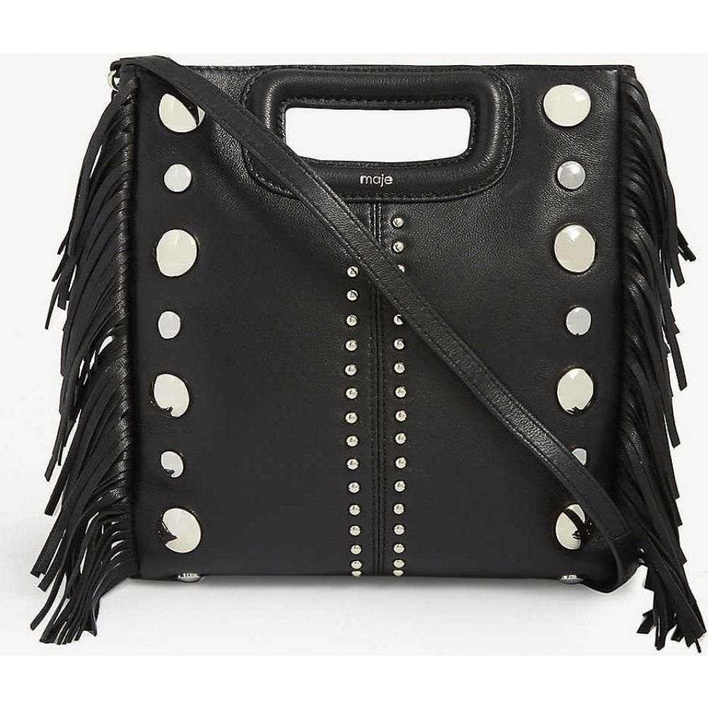 マージュ MAJE レディース ショルダーバッグ バッグ【M studded leather shoulder bag】BLACK