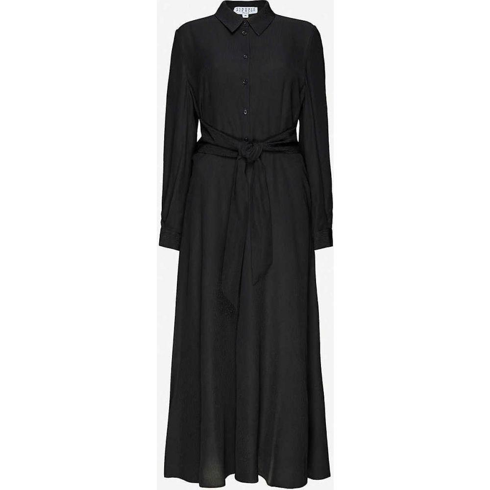 クローディ ピエルロ CLAUDIE PIERLOT レディース ワンピース ミドル丈 ワンピース・ドレス【Respecte woven midi dress】BLACK