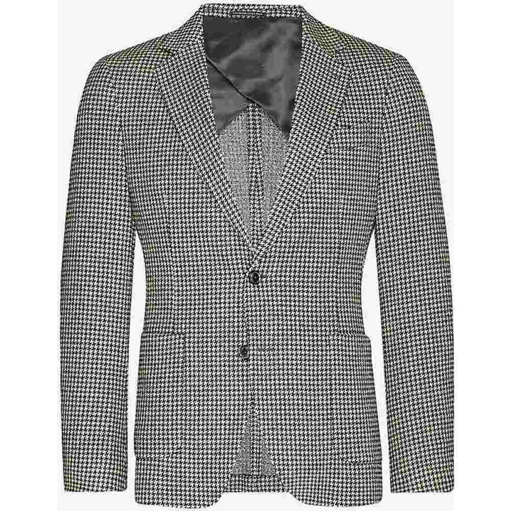 リース REISS メンズ スーツ・ジャケット アウター【Pinot houndstooth stretch-woven blazer】MID BROWN