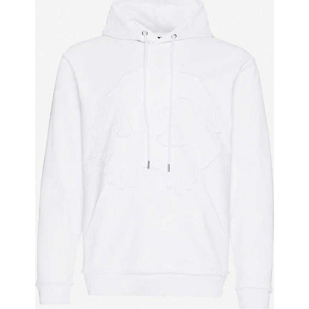 アレキサンダー マックイーン MCQ ALEXANDER MCQUEEN メンズ Tシャツ トップス【Graphic-embroidered cotton-jersey T-shirt】Optic White