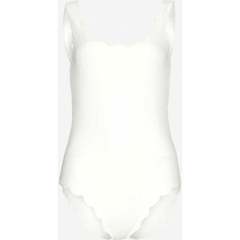 マリシアス MARYSIA レディース ワンピース 水着・ビーチウェア【Palm Springs scallop-trimmed swimsuit】COCONUT