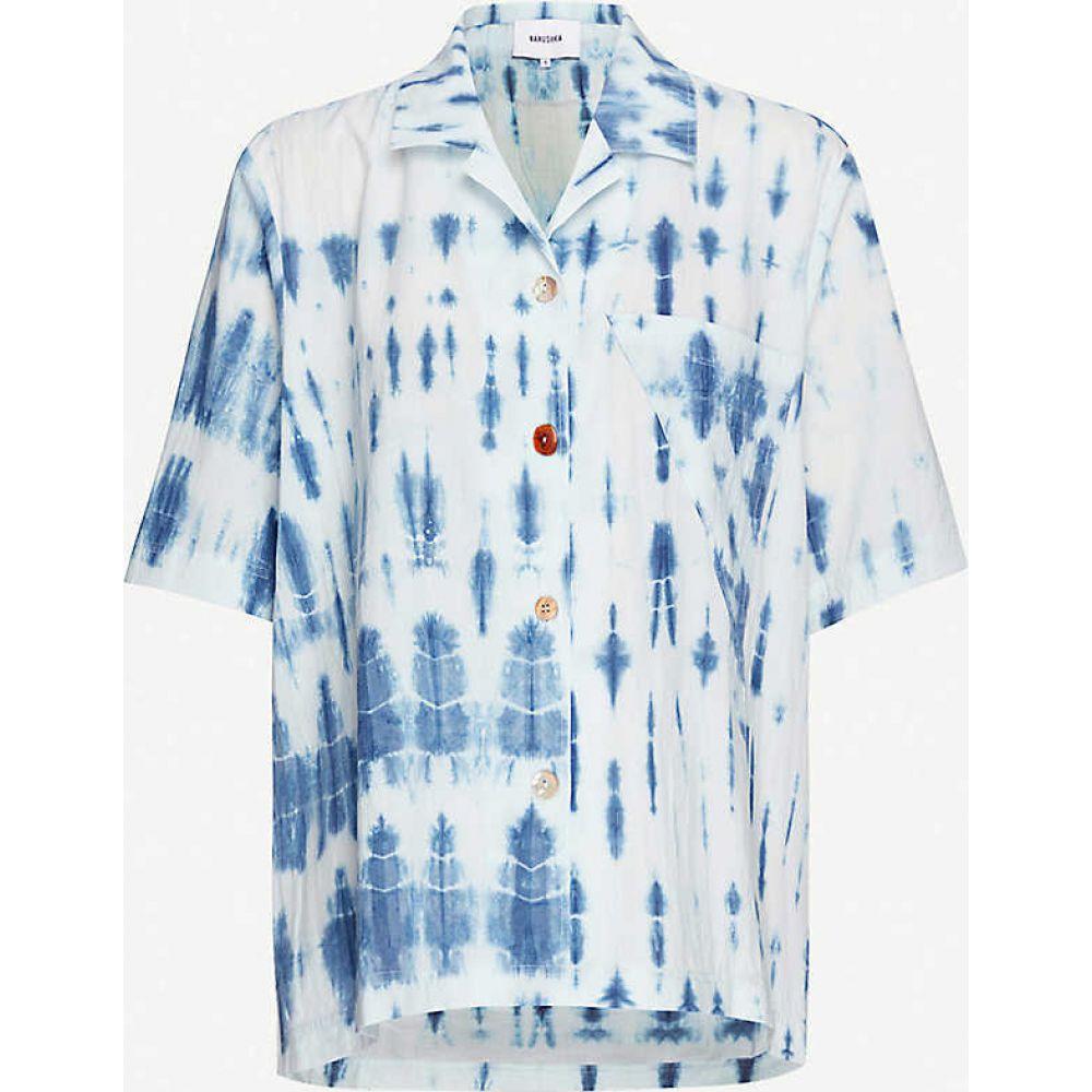ナヌシュカ NANUSHKA レディース ブラウス・シャツ トップス【Taio tie-dye cotton shirt】Bio Indigo