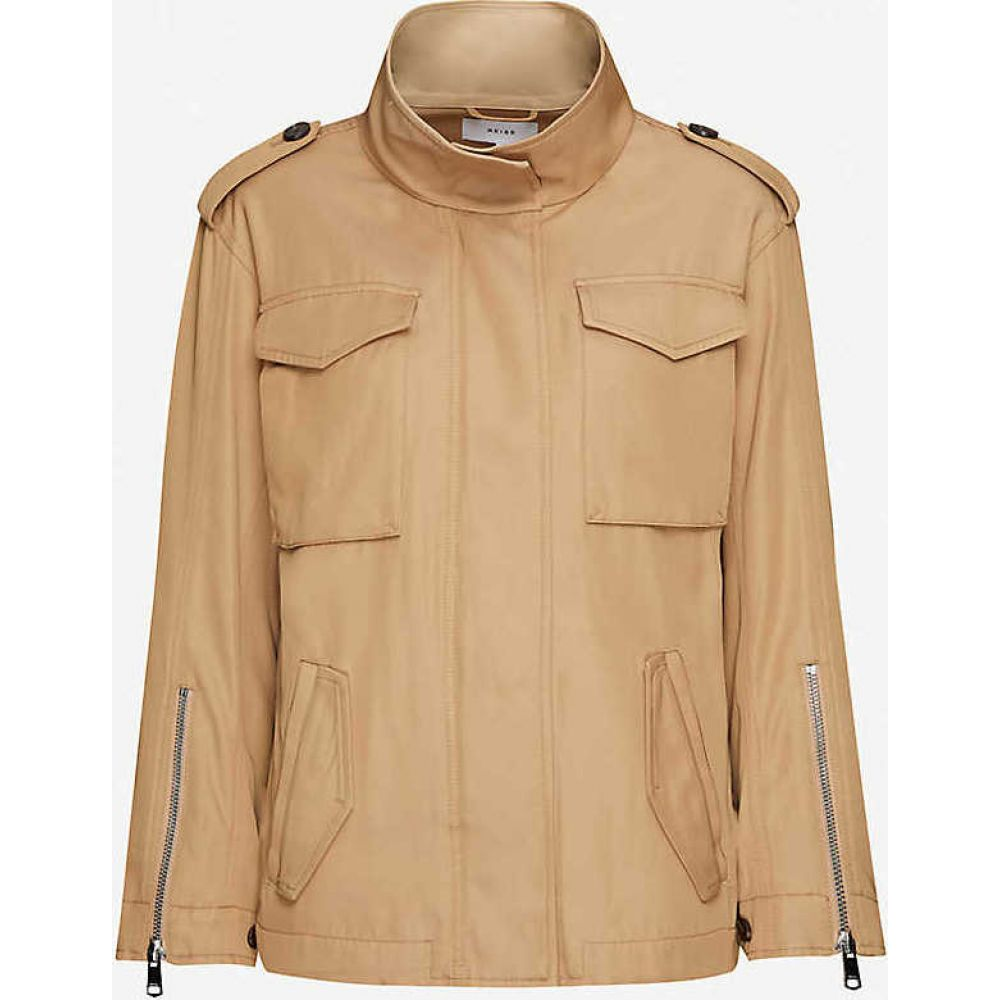 リース REISS レディース ジャケット アウター【Nia single-breasted twill jacket】SAND