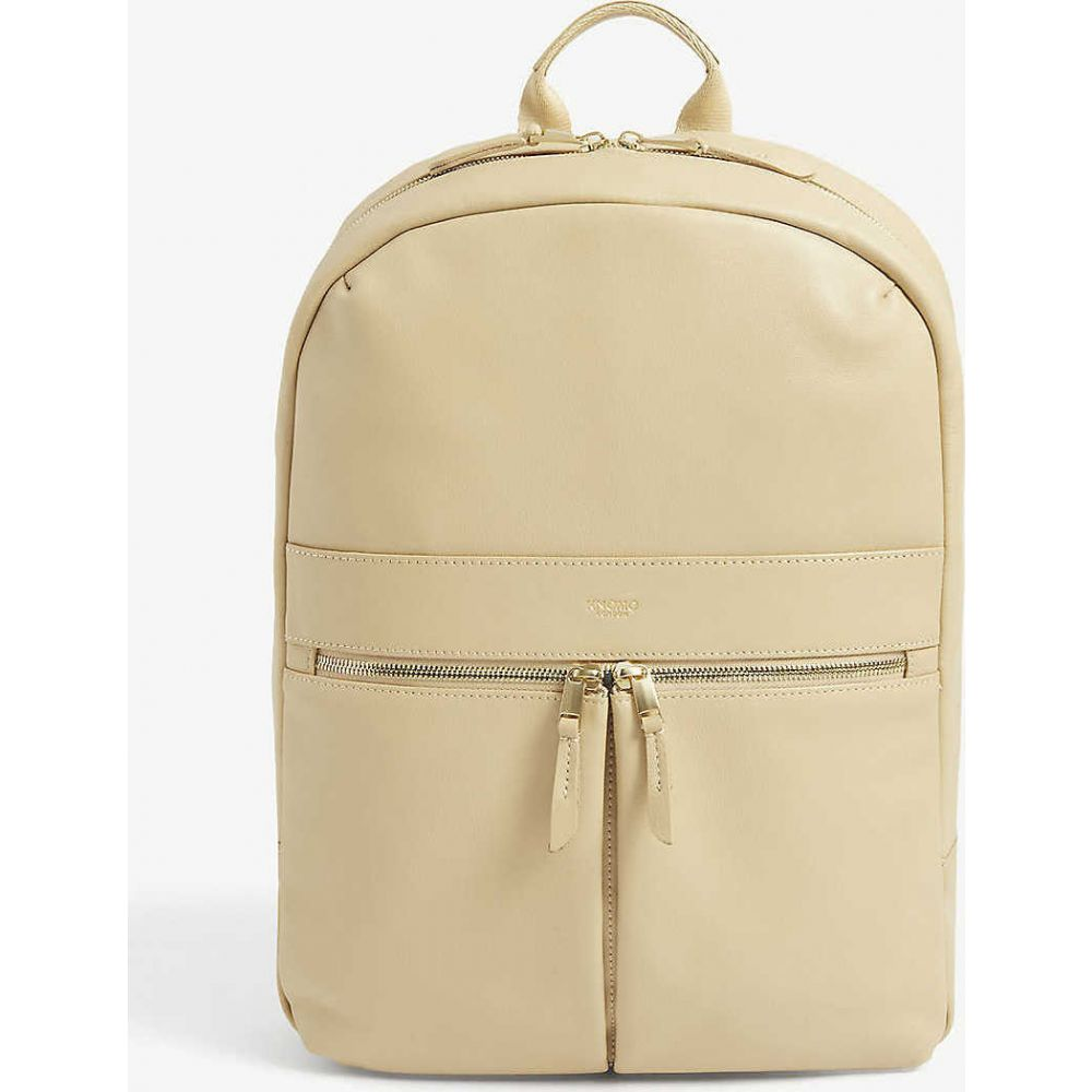クノモ KNOMO レディース バックパック・リュック バッグ【Mayfair Beauchamp leather and nylon backpack】Trench Beige