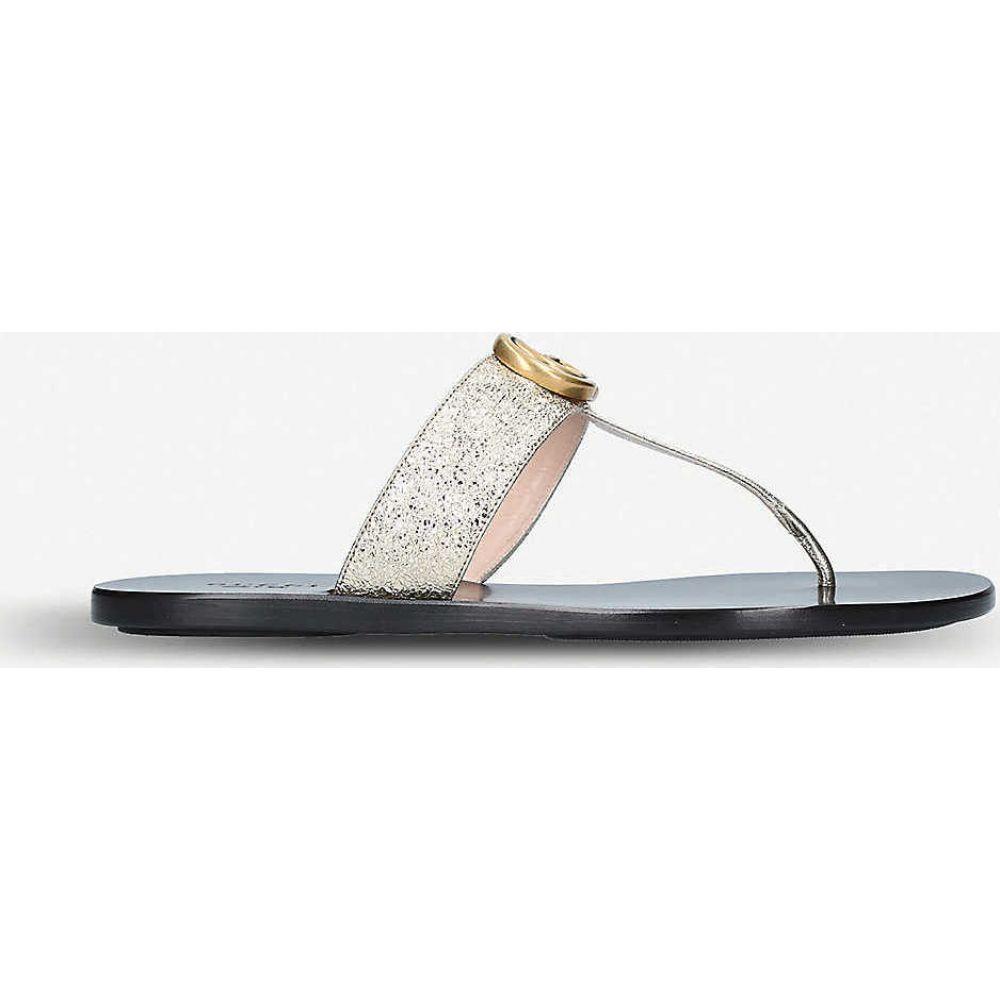 グッチ GUCCI レディース サンダル・ミュール シューズ・靴【Marmont leather sandals】GOLD