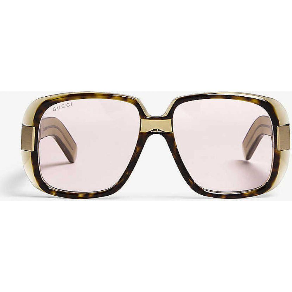 グッチ GUCCI レディース メガネ・サングラス スクエアフレーム【GG0318s square-frame sunglasses】Green