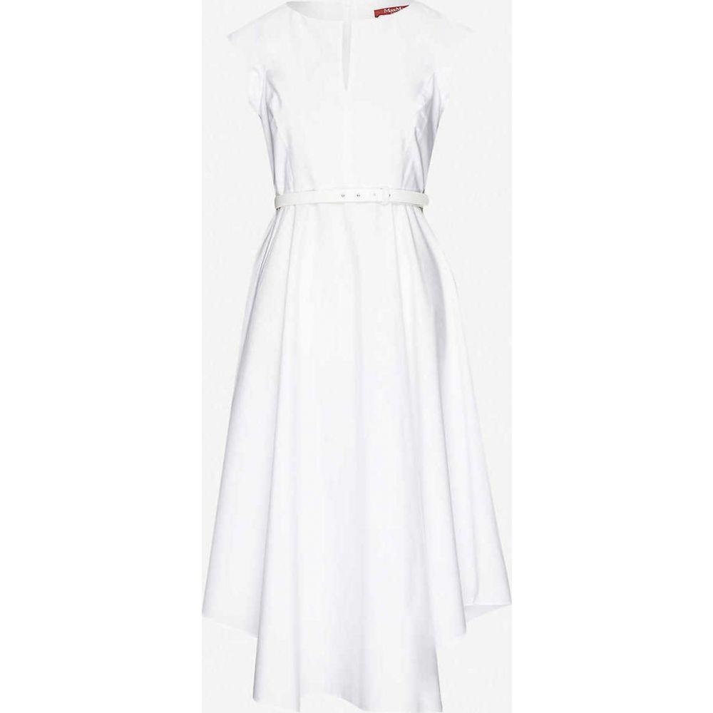 マックスマーラ MAX MARA STUDIO レディース ワンピース ミドル丈 ワンピース・ドレス【Grecian cotton-poplin midi dress】White
