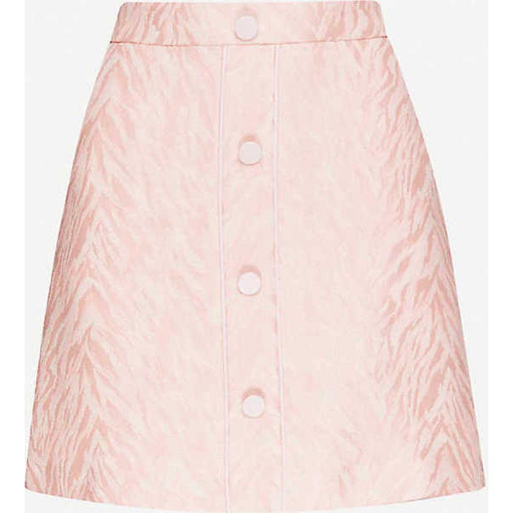 サンドロ SANDRO レディース ミニスカート スカート【Zeby high-waisted cotton-blend skirt】PINK