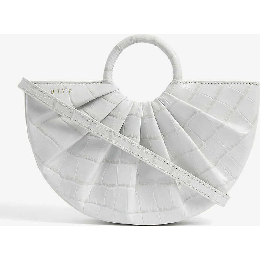 DLYP レディース ショルダーバッグ バッグ【Pleated Bender croc-embossed leather cross-body bag】Dove