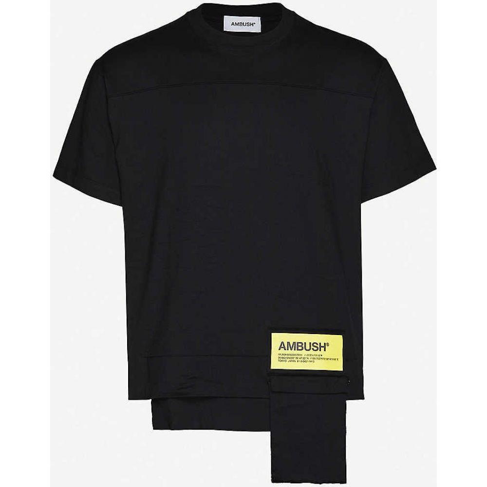 アンブッシュ AMBUSH メンズ Tシャツ ポケット トップス【Waist pocket cotton-jersey T-shirt】BLACK