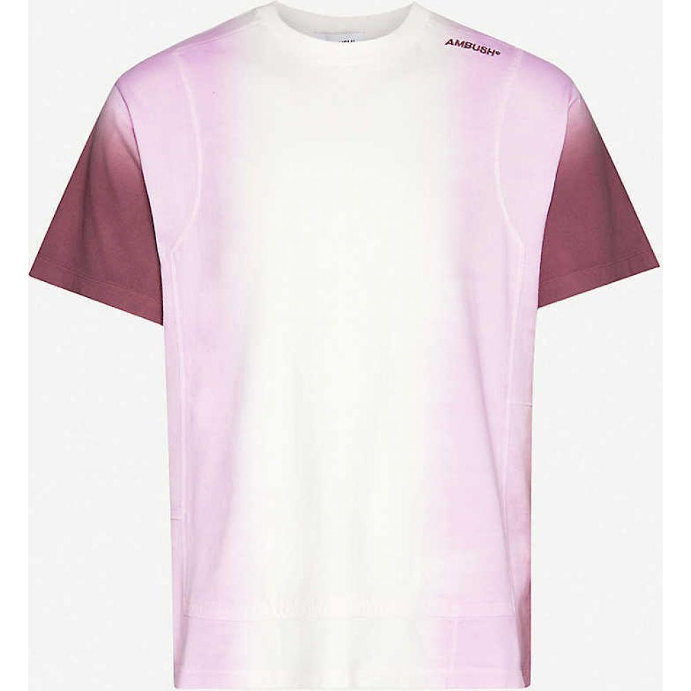 アンブッシュ AMBUSH メンズ Tシャツ トップス【Tie-dye print cotton-jersey T-shirt】Light Pink Multi
