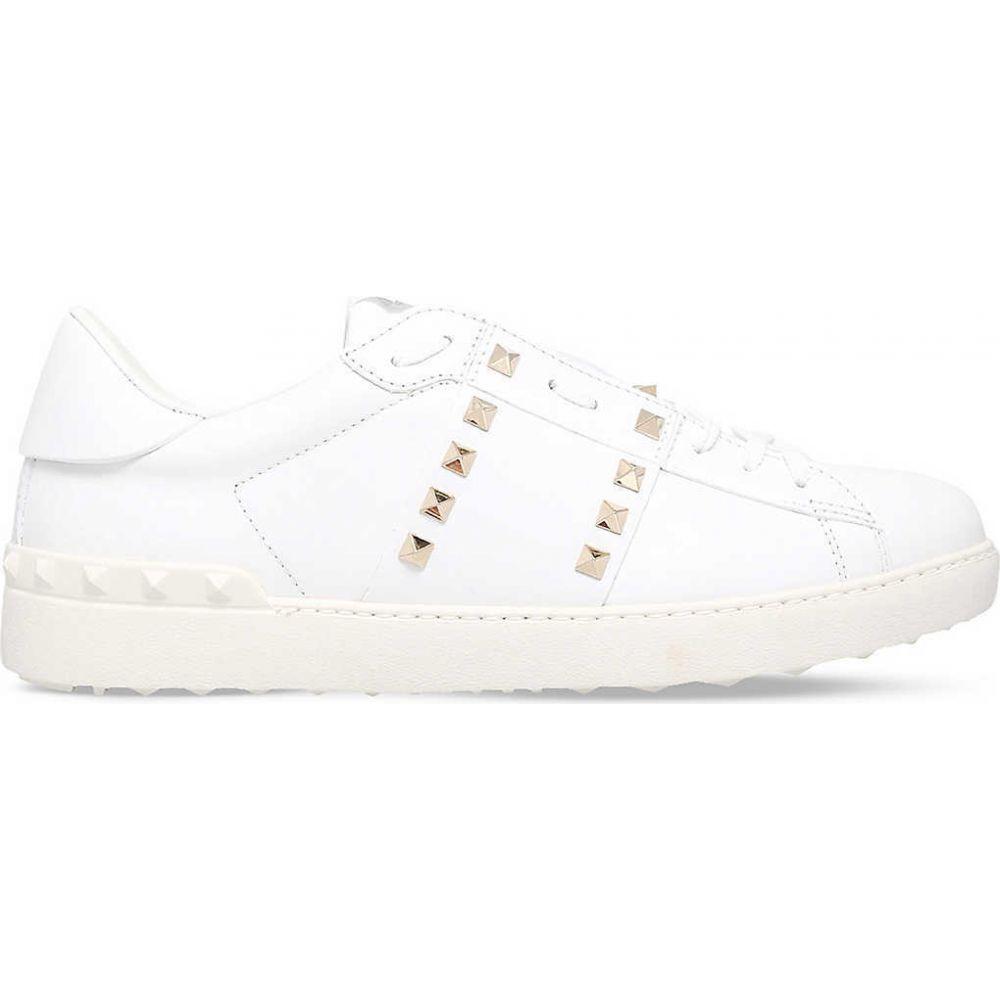 ヴァレンティノ VALENTINO メンズ テニス シューズ・靴【Tennis stripe stud leather trainers】WHITE/COMB