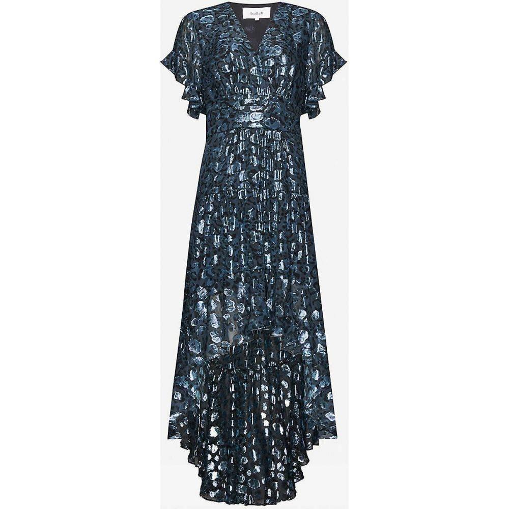 バッシュ BA&SH レディース ワンピース ワンピース・ドレス【Grace metallic leopard-print silk-blend dress】DARK BLUE