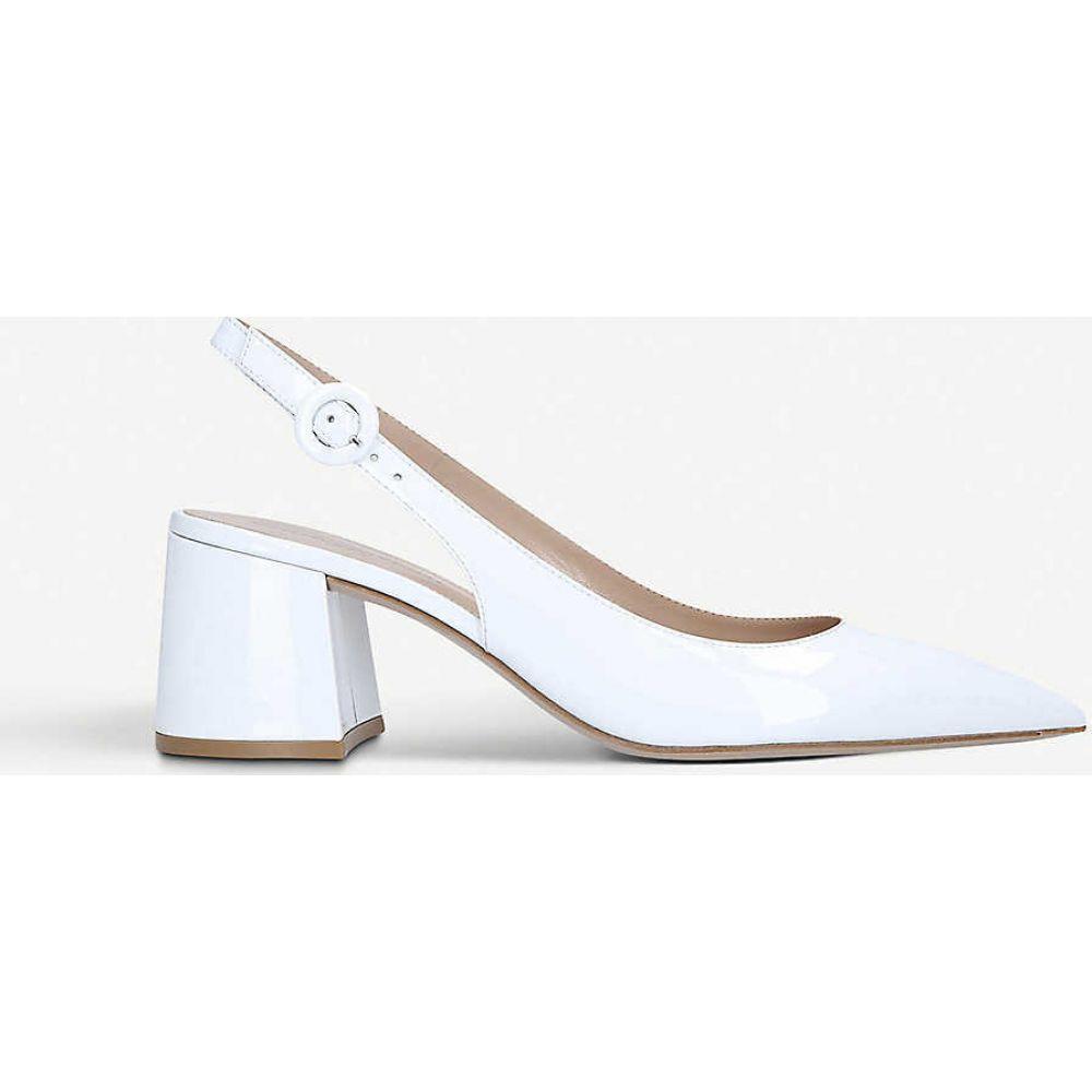 ジャンヴィト ロッシ GIANVITO ROSSI レディース ヒール シューズ・靴【Agata 60 leather heels】WHITE