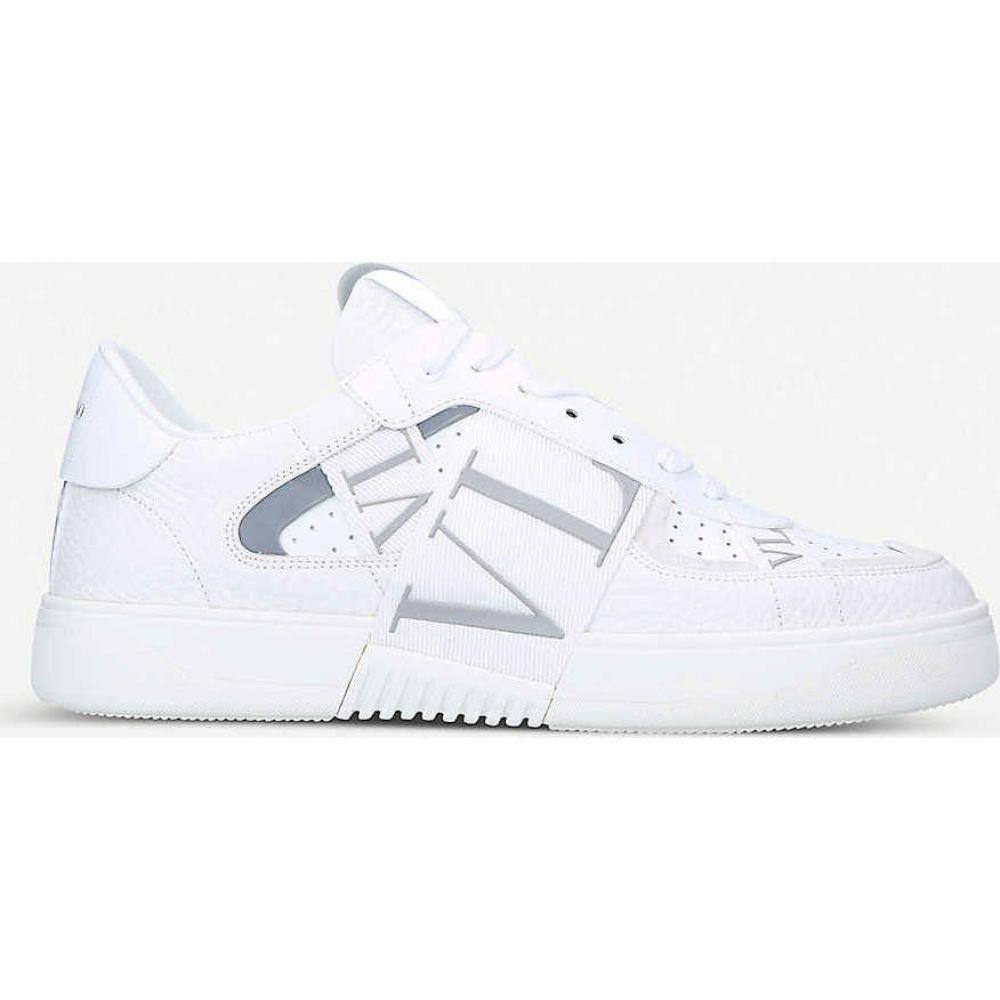 ヴァレンティノ VALENTINO メンズ スニーカー シューズ・靴【VL7N logo-embellished leather trainers】WHITE