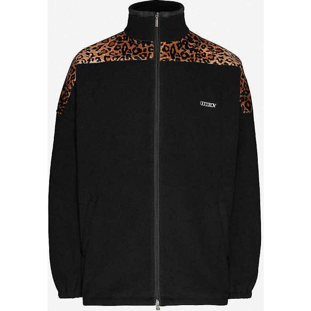 XOXOGOODBOY メンズ フリース トップス【Oversized fleece jacket】BLACK