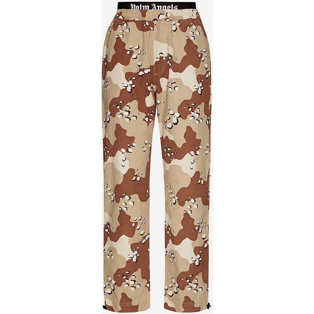 パーム エンジェルス PALM ANGELS レディース ボトムス・パンツ 【Camouflage-print straight high-rise cotton-twill trousers】Khaki Brown