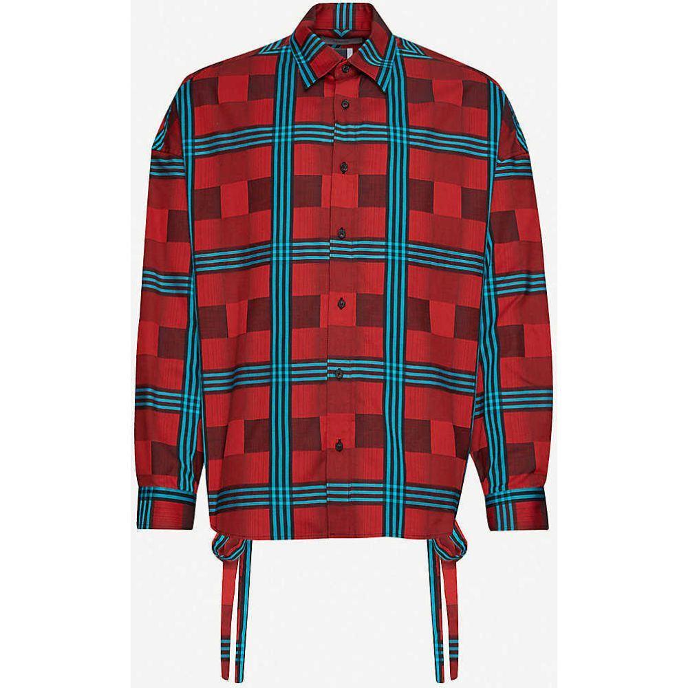 ファセッタズム FACETASM メンズ シャツ トップス【Checked cotton shirt】Red