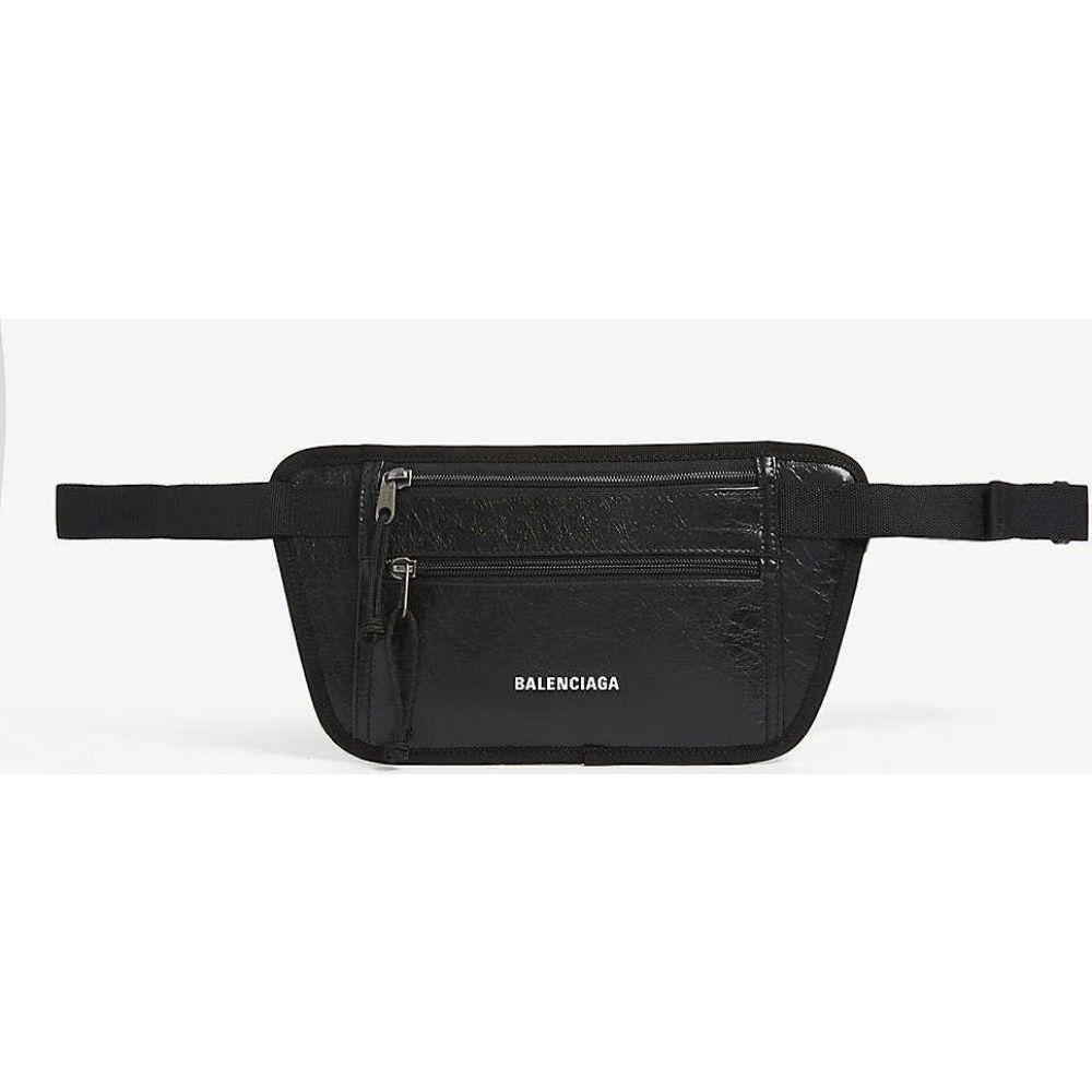 バレンシアガ BALENCIAGA メンズ ボディバッグ・ウエストポーチ バッグ【Weekend leather belt bag】BLACK