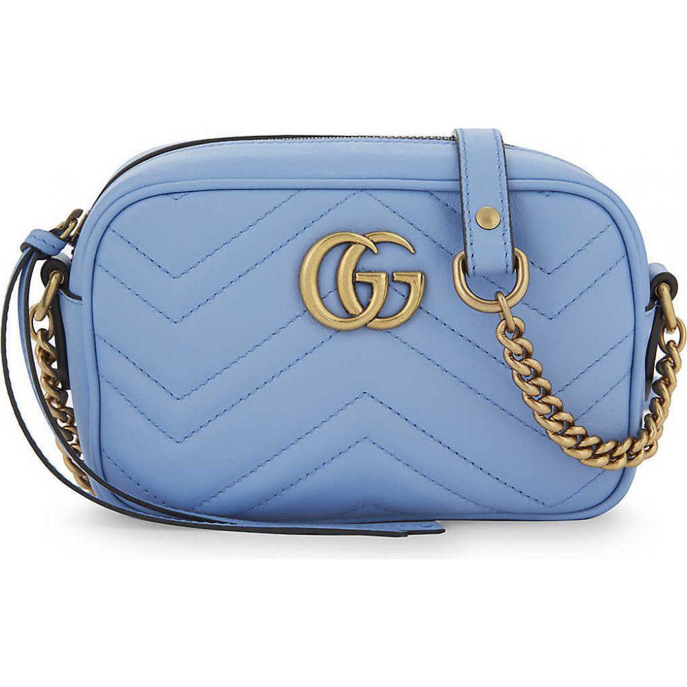 グッチ GUCCI レディース ショルダーバッグ バッグ【GG Marmont mini leather shoulder bag】CLEAR SKY BLUE