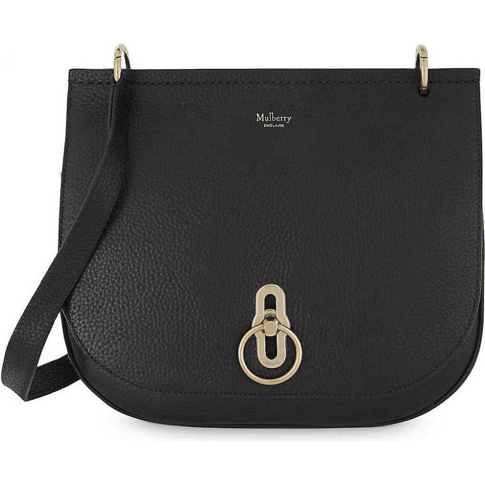 マルベリー MULBERRY レディース ショルダーバッグ バッグ【Amberley grained-leather shoulder bag】BLACK