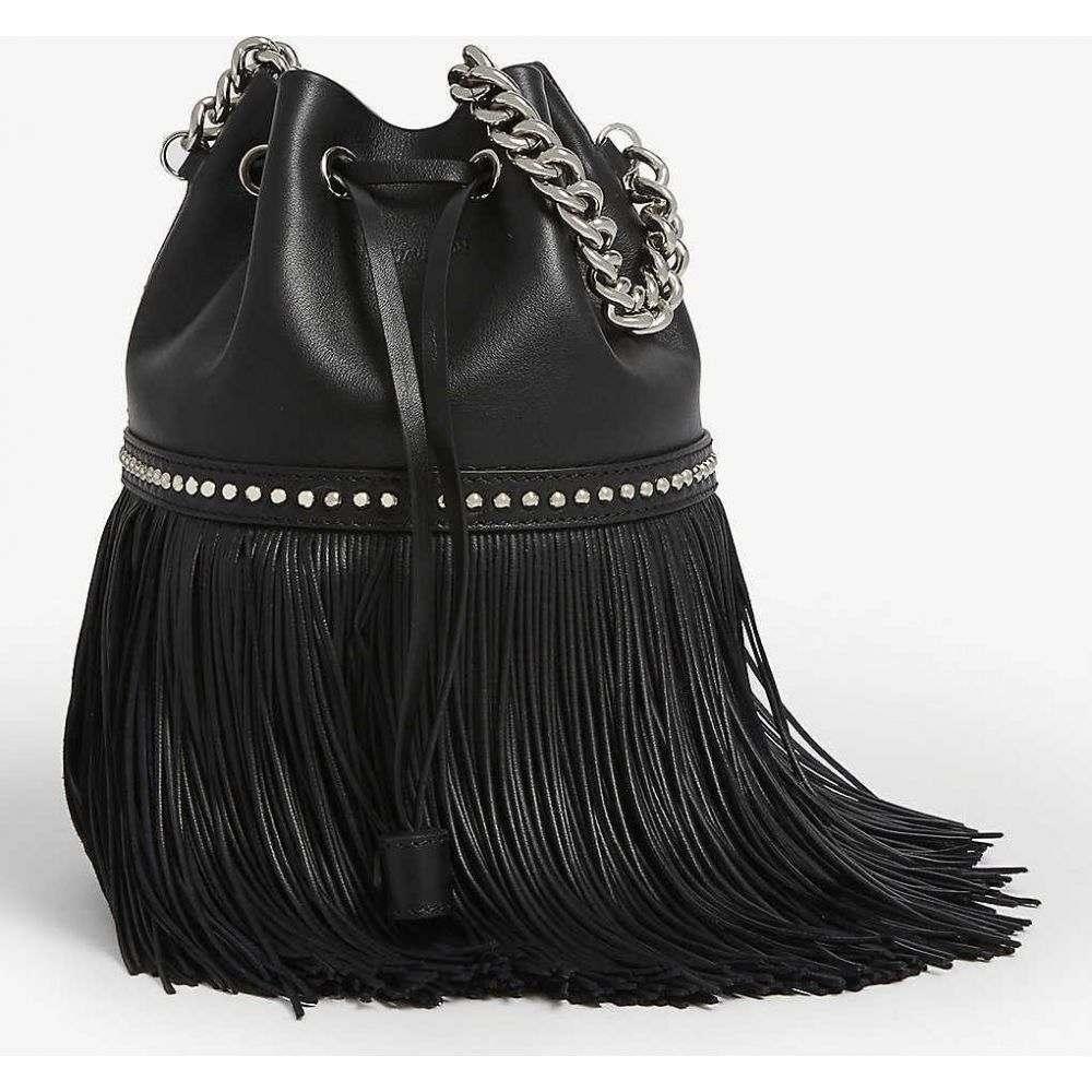 ジェイアンドエムデヴィッドソン J & M DAVIDSON レディース ショルダーバッグ バッグ【Medium Carnival fringed leather cross-body bag】BLACK