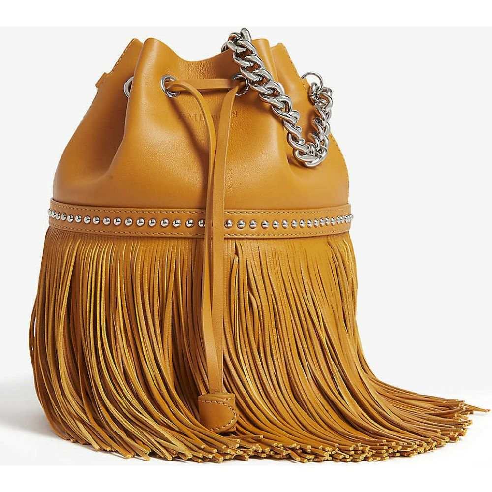 ジェイアンドエムデヴィッドソン J & M DAVIDSON レディース ショルダーバッグ バッグ【Medium Carnival fringed leather cross-body bag】MUSTARD