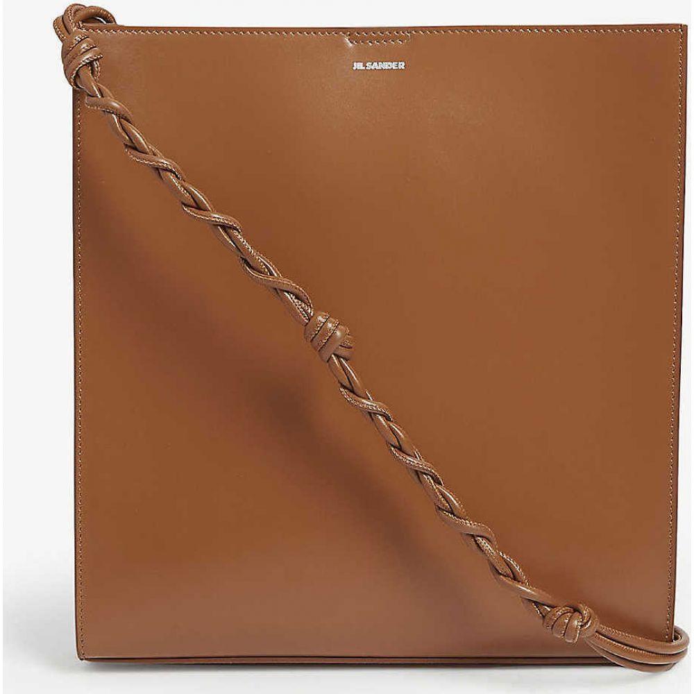 ジル サンダー JIL SANDER レディース ショルダーバッグ バッグ【Tangle medium leather cross-body bag】CARAMEL
