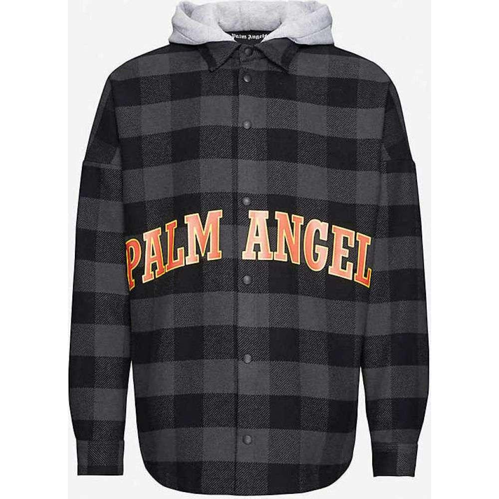 パーム エンジェルス PALM ANGELS メンズ ジャケット オーバーシャツ アウター【Logo-printed cotton-blend overshirt】Multi