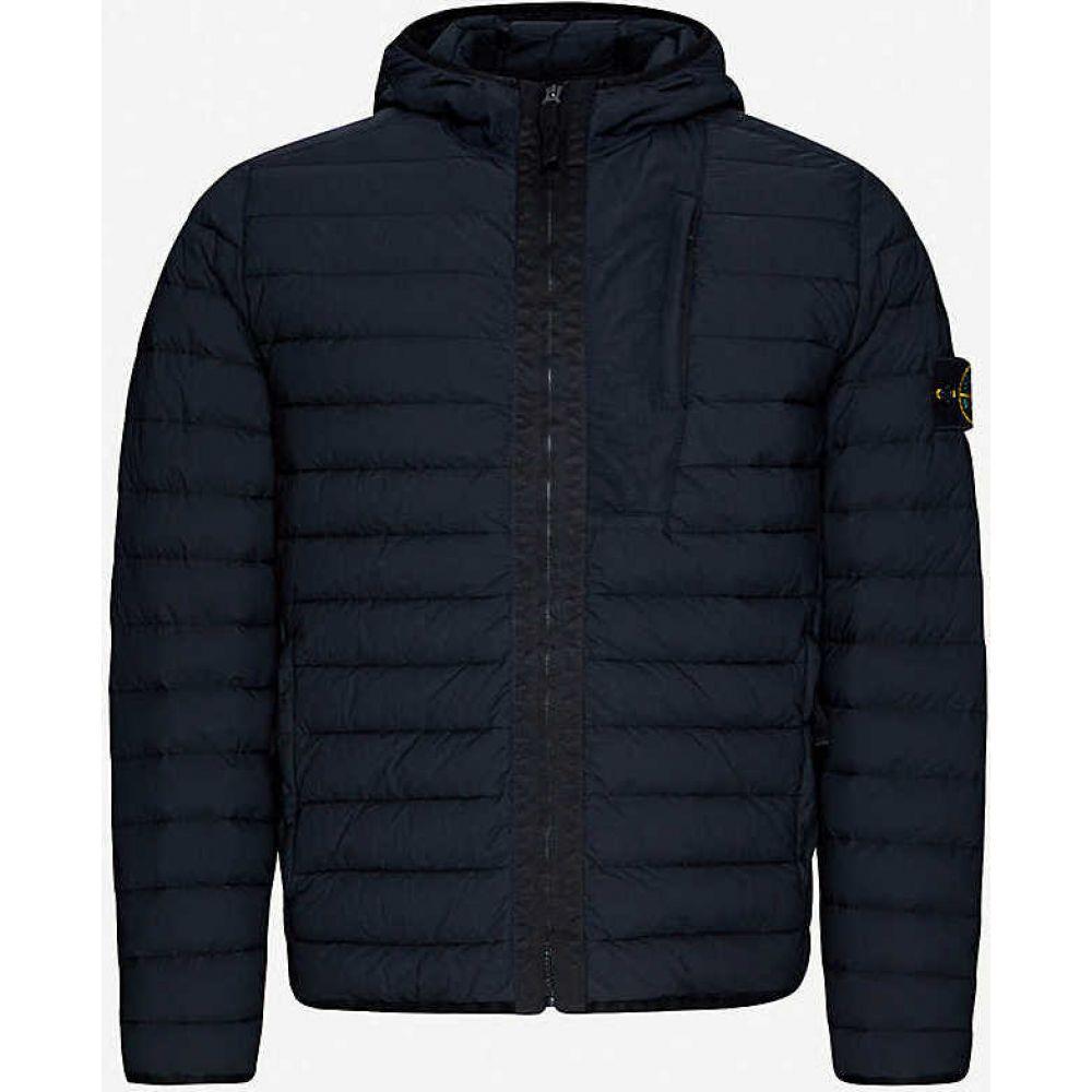 ストーンアイランド STONE ISLAND メンズ ダウン・中綿ジャケット フード アウター【Hooded padded shell-down jacket】BLACK