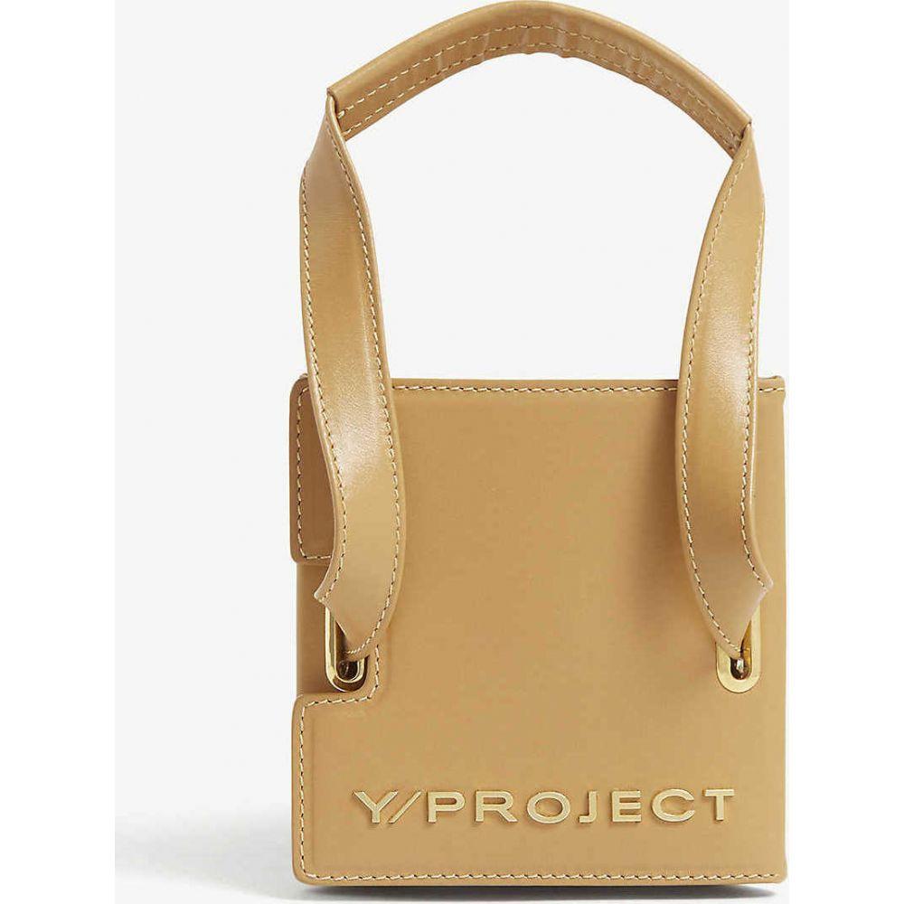 ワイプロジェクト Y/PROJECT レディース ショルダーバッグ バッグ【Leather accordion shoulder bag】CAMEL