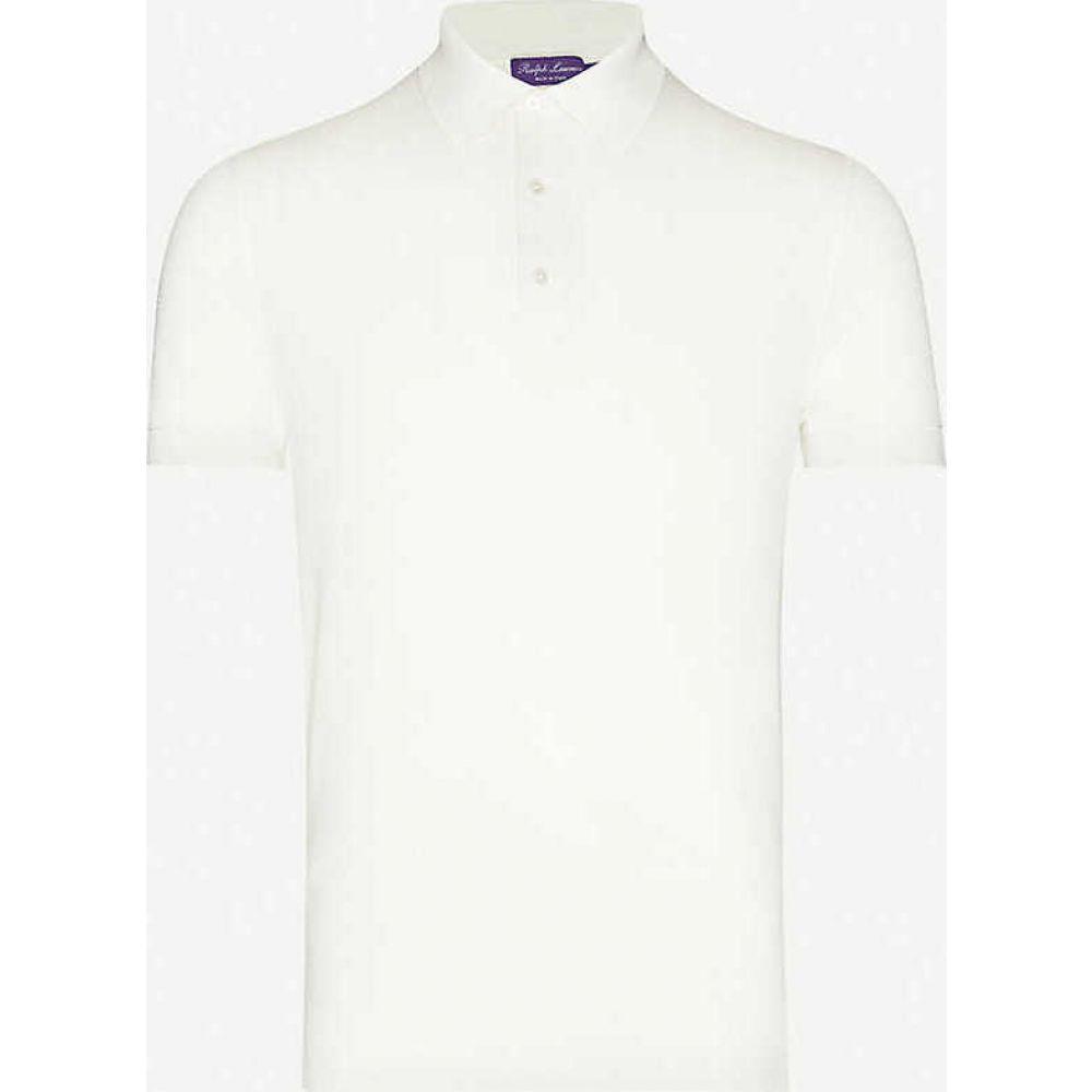 ラルフ ローレン RALPH LAUREN PURPLE LABEL メンズ ポロシャツ トップス【Sail cotton-pique polo shirt】CREAM