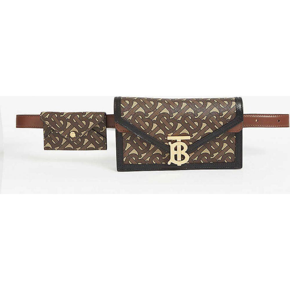 バーバリー BURBERRY レディース ボディバッグ・ウエストポーチ バッグ【TB monogram leather envelope belt bag】Bridle Brown