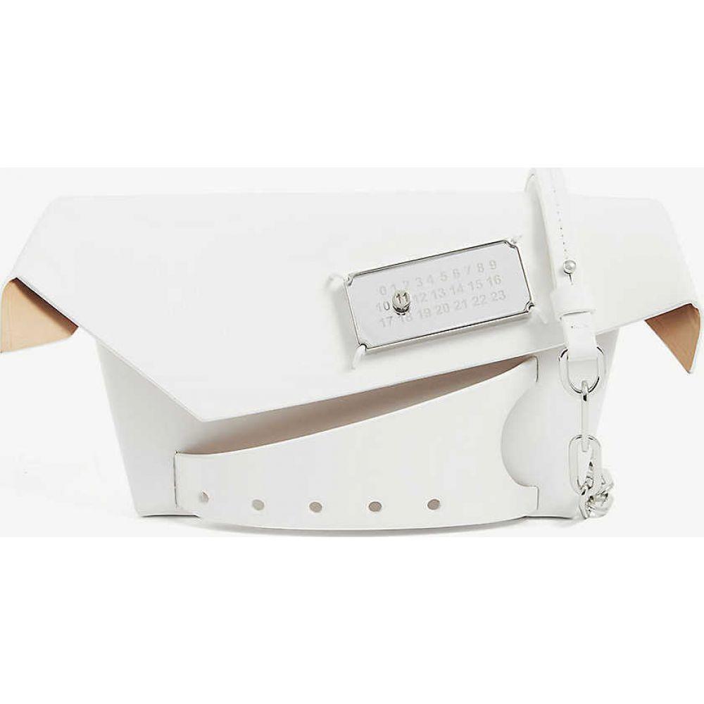 メゾン マルジェラ MAISON MARGIELA レディース ショルダーバッグ バッグ【Snatched small leather shoulder bag】White
