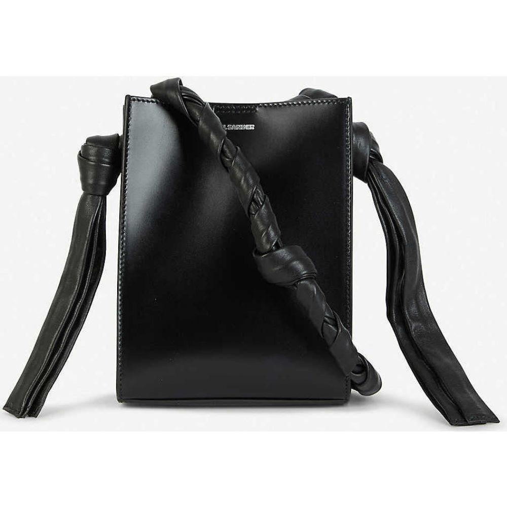 ジル サンダー JIL SANDER レディース ショルダーバッグ バッグ【Tangle leather cross-body bag】BLACK