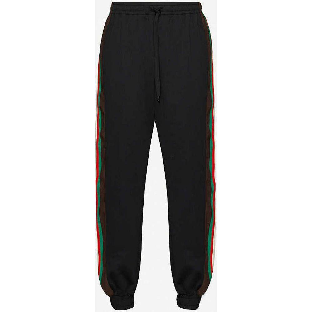グッチ GUCCI メンズ ボトムス・パンツ 【Side-stripe cotton jogging bottoms】BLACK