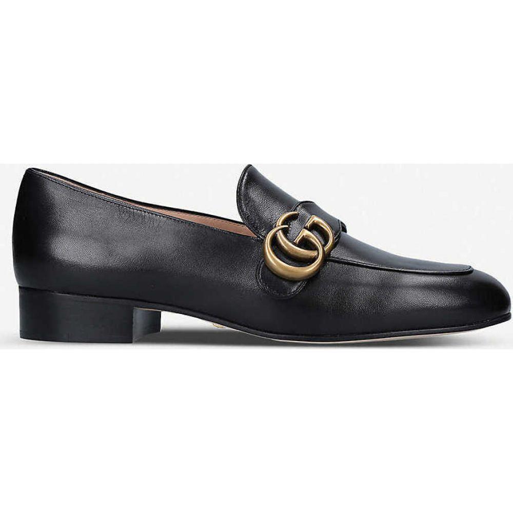 グッチ GUCCI レディース ローファー・オックスフォード シューズ・靴【Marmont logo-detail leather loafers】PALE PINK