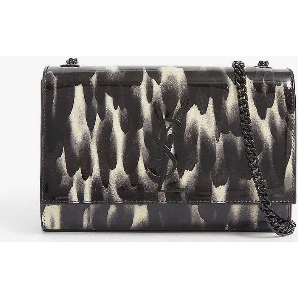 イヴ サンローラン SAINT LAURENT レディース ショルダーバッグ バッグ【Kate paint splatter-print PVC shoulder bag】Graffiti Blk Wht