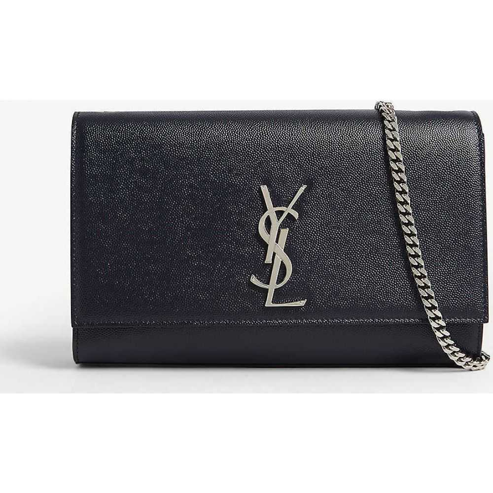 イヴ サンローラン SAINT LAURENT レディース ショルダーバッグ バッグ【Kate medium leather shoulder bag】Marine Dk