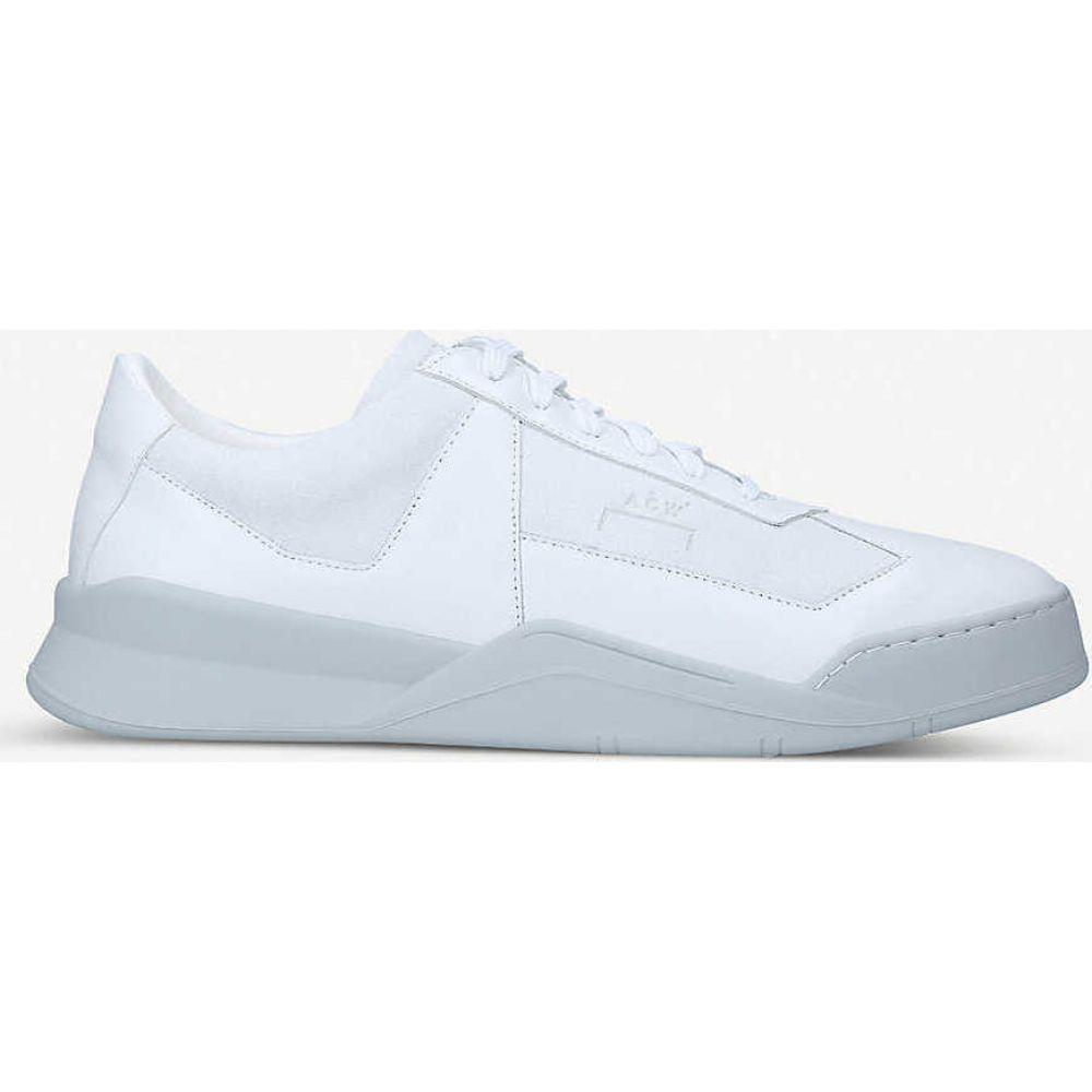 コールド ウォール COLD WALL レディース スニーカー シューズ・靴【Shard low-top leather trainers】WHITE/COMB
