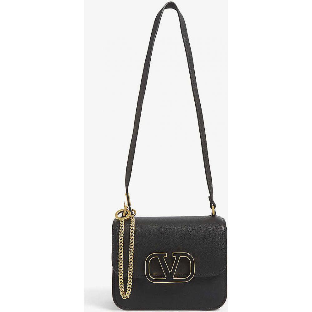 ヴァレンティノ VALENTINO GARAVANI レディース ショルダーバッグ バッグ【VSLING V-ring logo leather shoulder bag】BLACK/BLACK