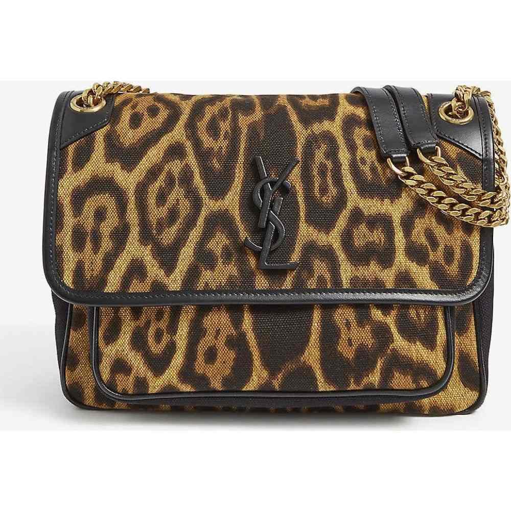 イヴ サンローラン SAINT LAURENT レディース ショルダーバッグ バッグ【Niki medium canvas shoulder bag】Leopard