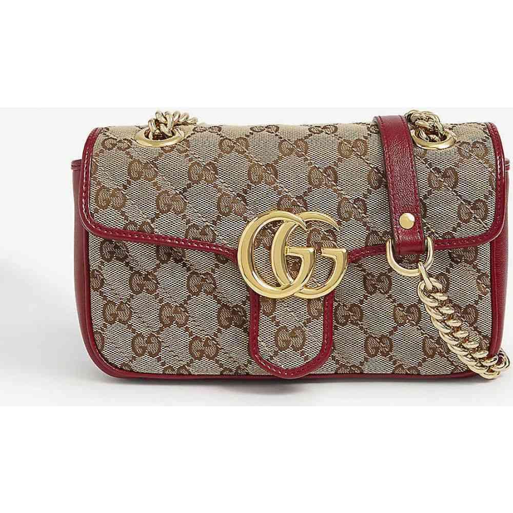 グッチ GUCCI レディース ショルダーバッグ バッグ【GG Marmont small shoulder bag】Beige Ebony Cherry Red