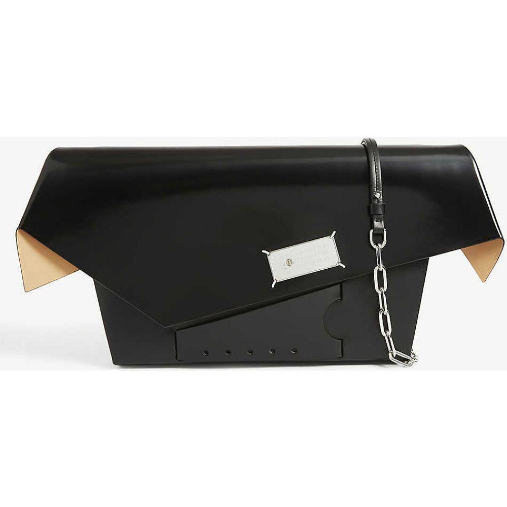 メゾン マルジェラ MAISON MARGIELA レディース ショルダーバッグ バッグ【Snatched small leather shoulder bag】BLACK