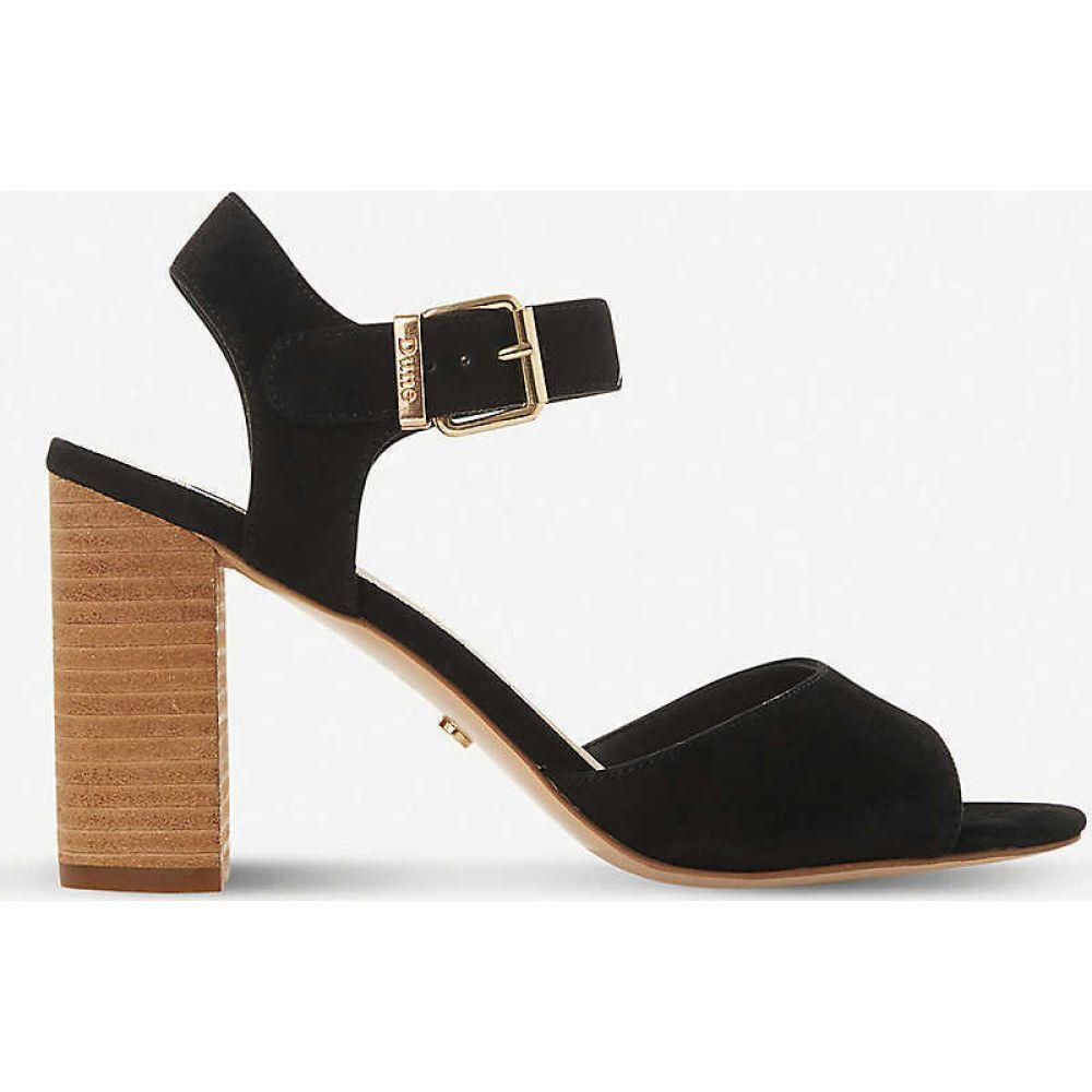 デューン DUNE レディース サンダル・ミュール シューズ・靴【isobel leather heeled sandals】BLACK-SUEDE